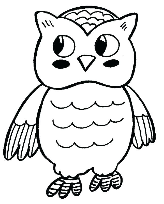 645x800 Stunning Free Owl Coloring Pages Fee Cartoon Page Cute Baby