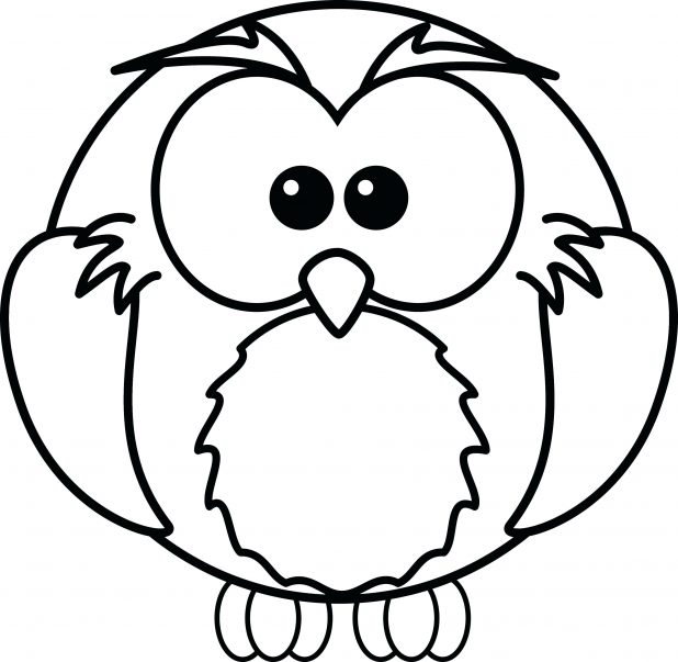 618x603 Click To See Printable Version Of Cute Owl Coloring Page