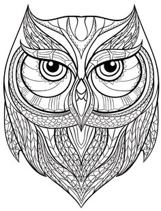 236x308 Mega Owls 5 Adult Coloring Book Louise Coloring For Adults