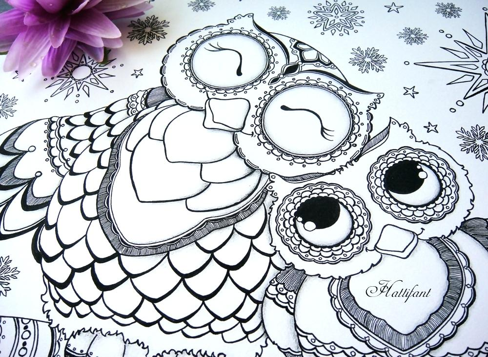 1000x731 Owl Color Pages Owl Colouring Pages And Printable Card 1 Owl