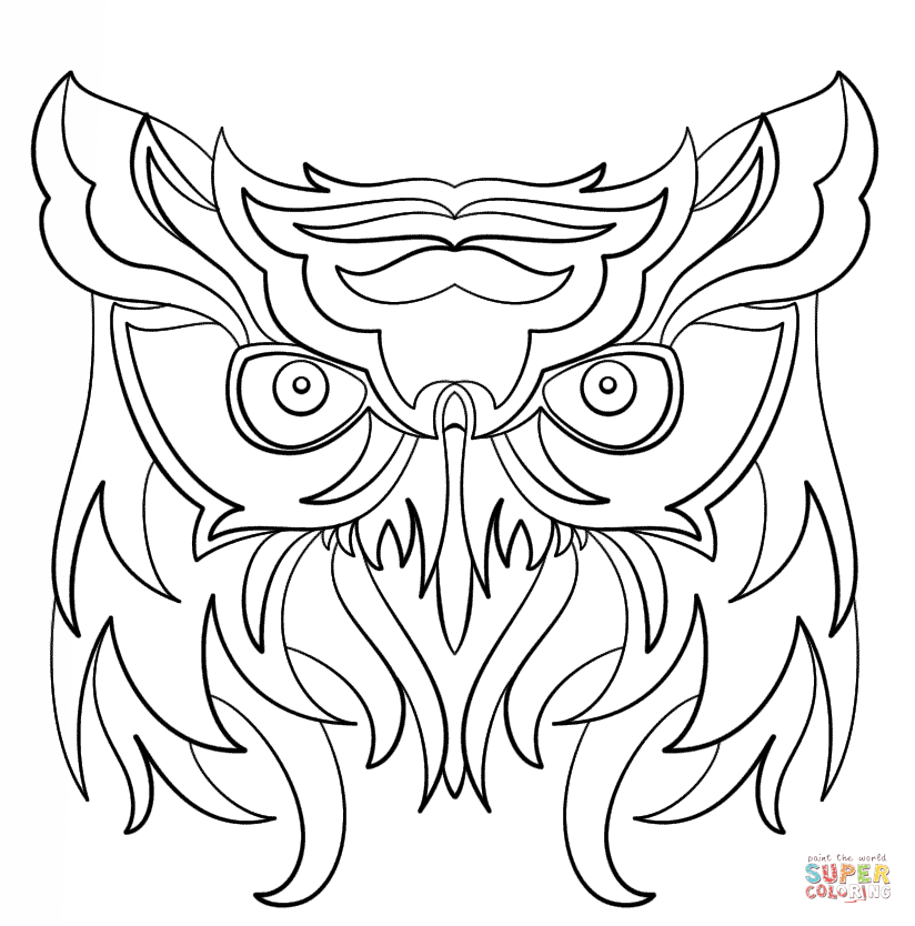 824x834 Abstract Owl Coloring Page Free Printable Coloring Pages