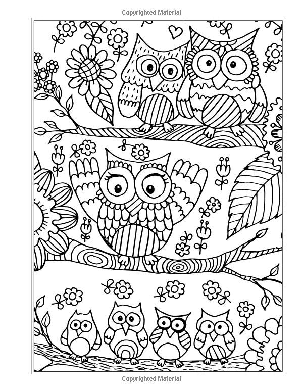 600x776 Eclectic Owl Drawings To Color