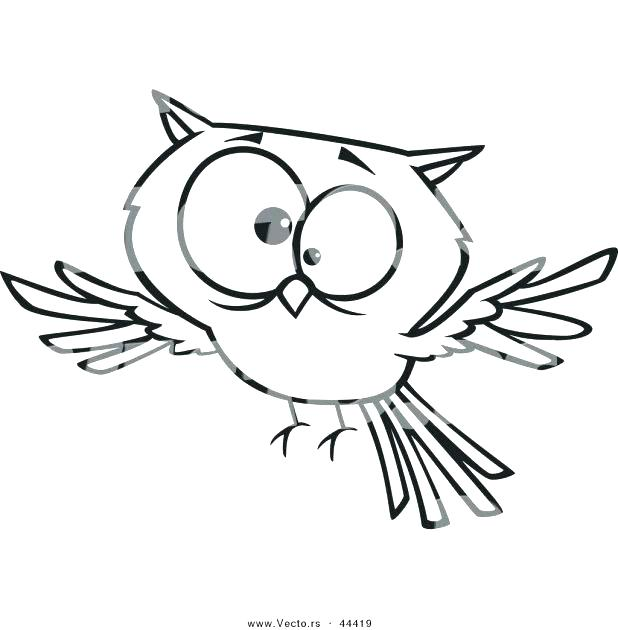618x630 Cartoon Owl Coloring Pages