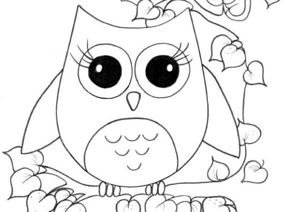 580x425 Girly Pictures To Colour In Cute Owl Coloring Pages For Girls Owls
