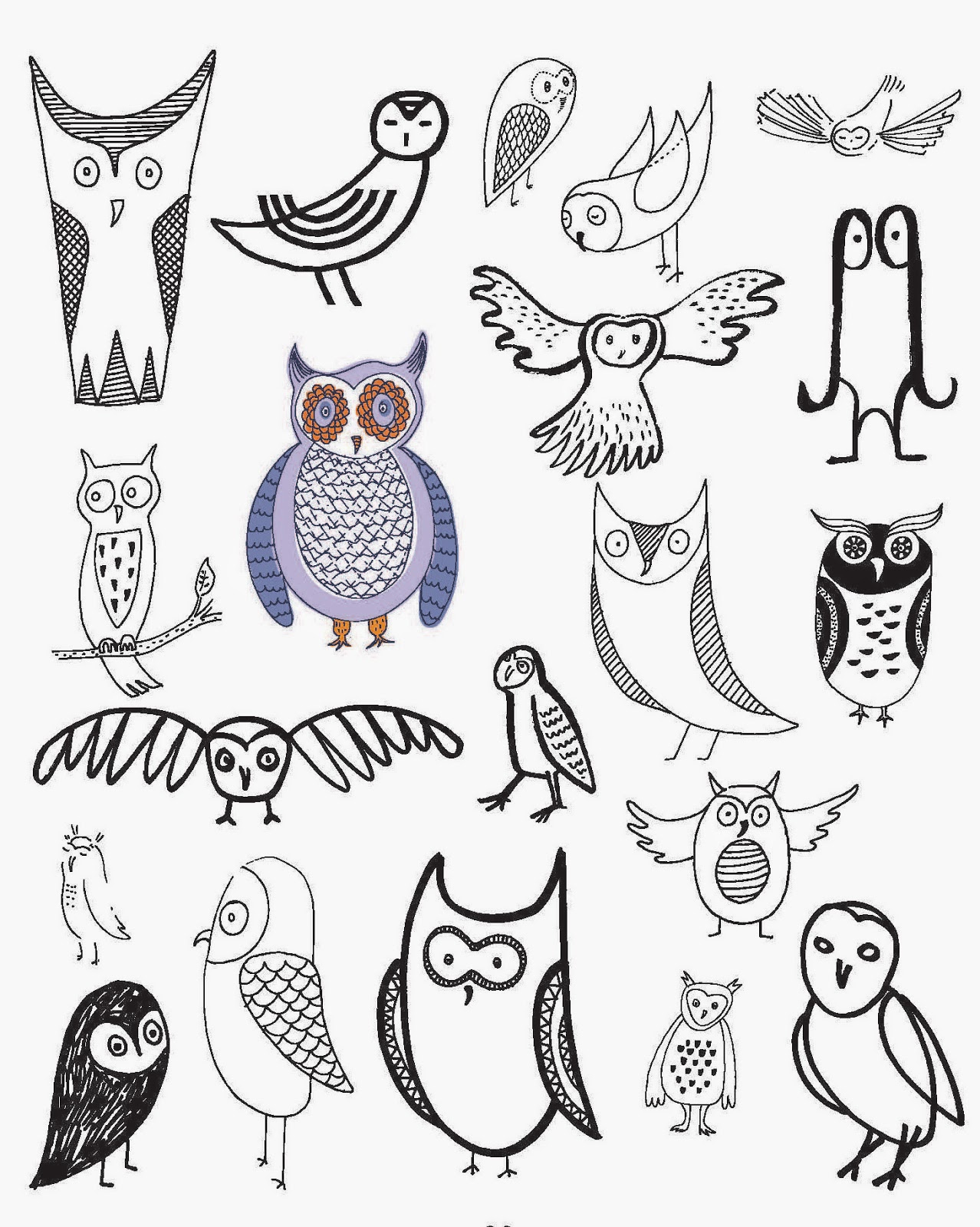 1278x1600 Craftside 20 Ways To Draw An Owl To Get You In The Back To School