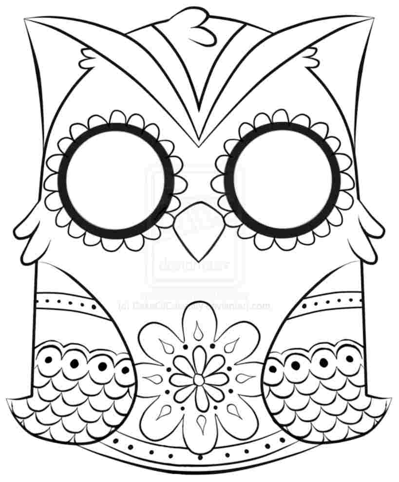 819x990 Cute Owl Coloring Pages