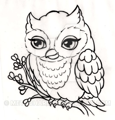 Owl Drawing Cute