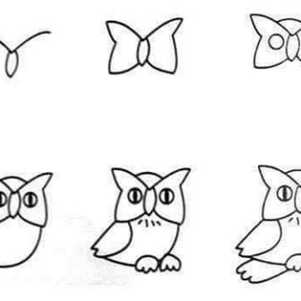 Owl Drawing Easy at GetDrawings | Free download