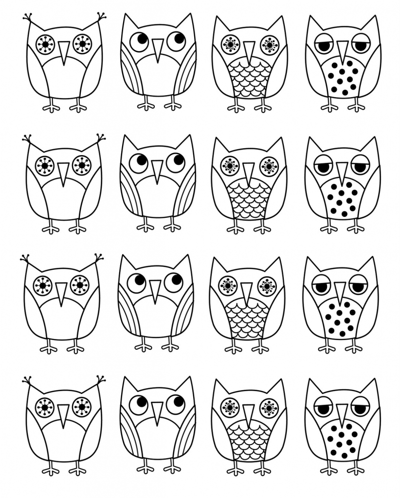 822x1024 How To Draw An Owl Kids Free Printable Owl Coloring Pages