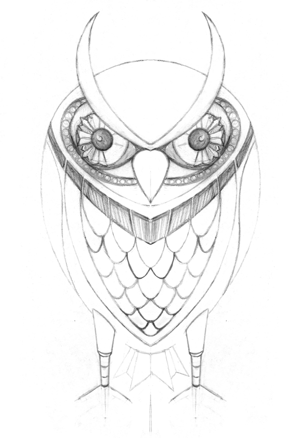 600x889 How To Create A Golden Mechanical Owl In Illustrator