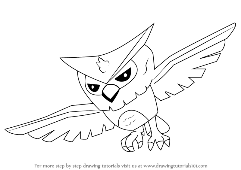 800x566 Learn How To Draw Owl From Animal Jam (Animal Jam) Step By Step
