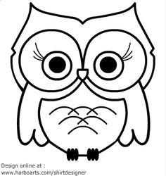 236x250 Owl Drawing Easy Cute