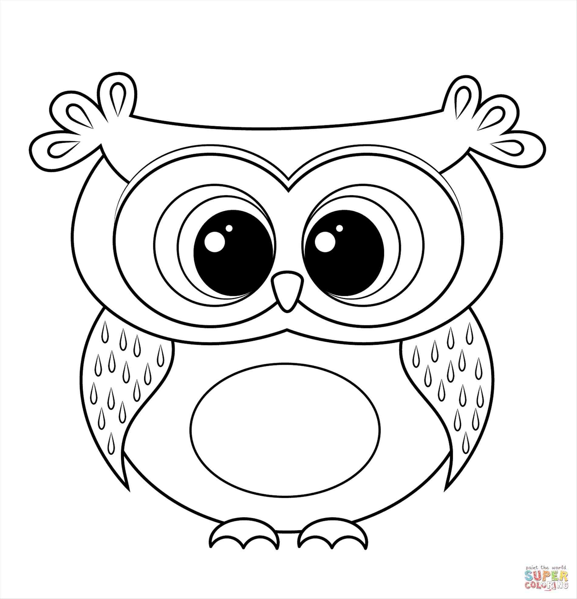 1900x1972 Easy Owl Drawings For Kids
