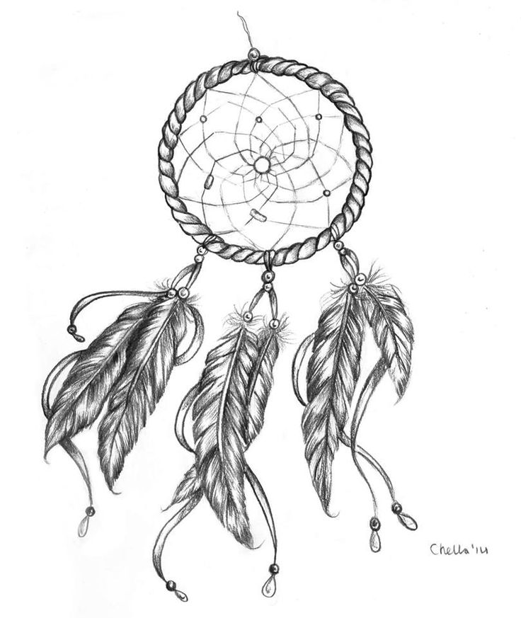 Owl Dream Catcher Drawing