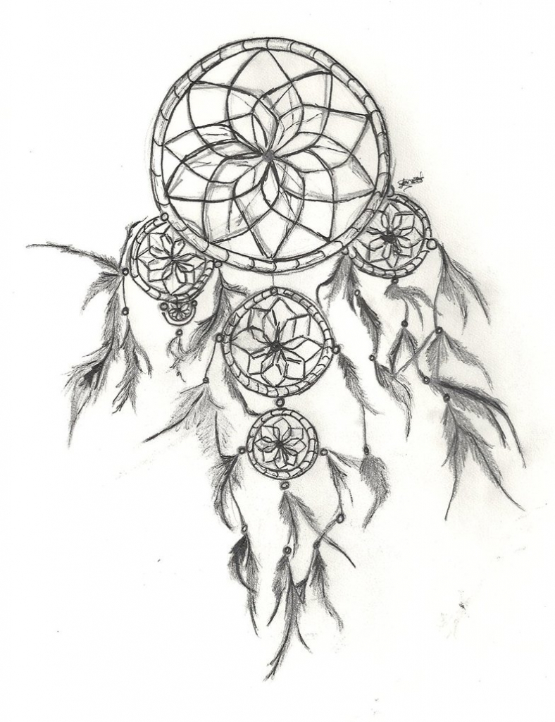 788x1024 Dreamcatcher Line Drawing Dream Catcher Black And White Owl Vector