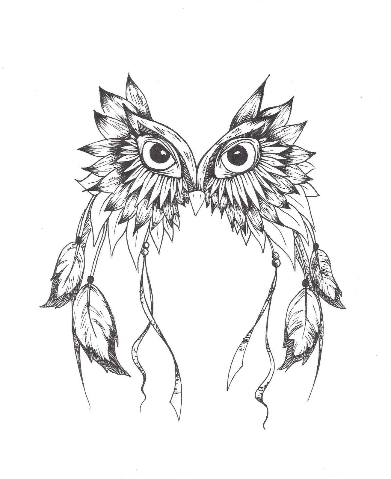 Owl dreamcatcher drawing - photo#31
