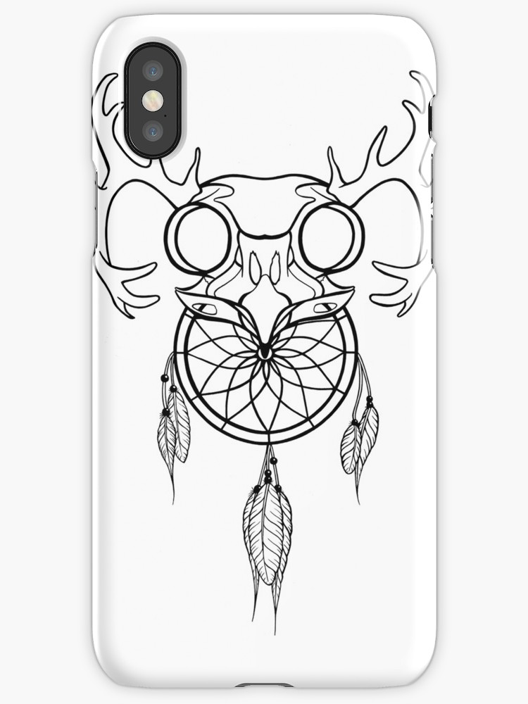 750x1000 Dreamcatcher Antler Owl Iphone Cases Amp Skins By Nyndesign Redbubble