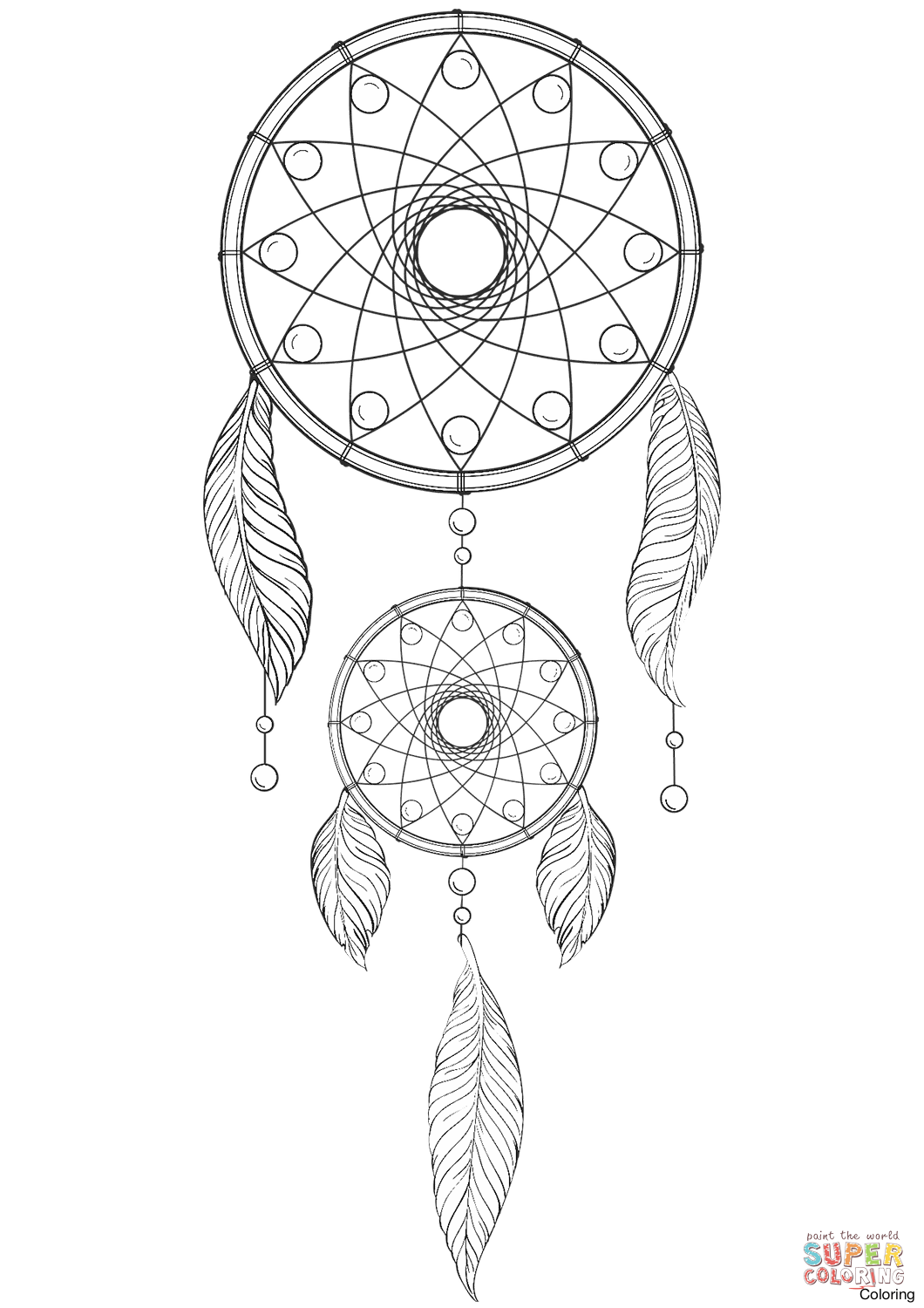 1060x1500 Dream Catcher Coloring Pages Throughout Dreamcatcher Page 19f