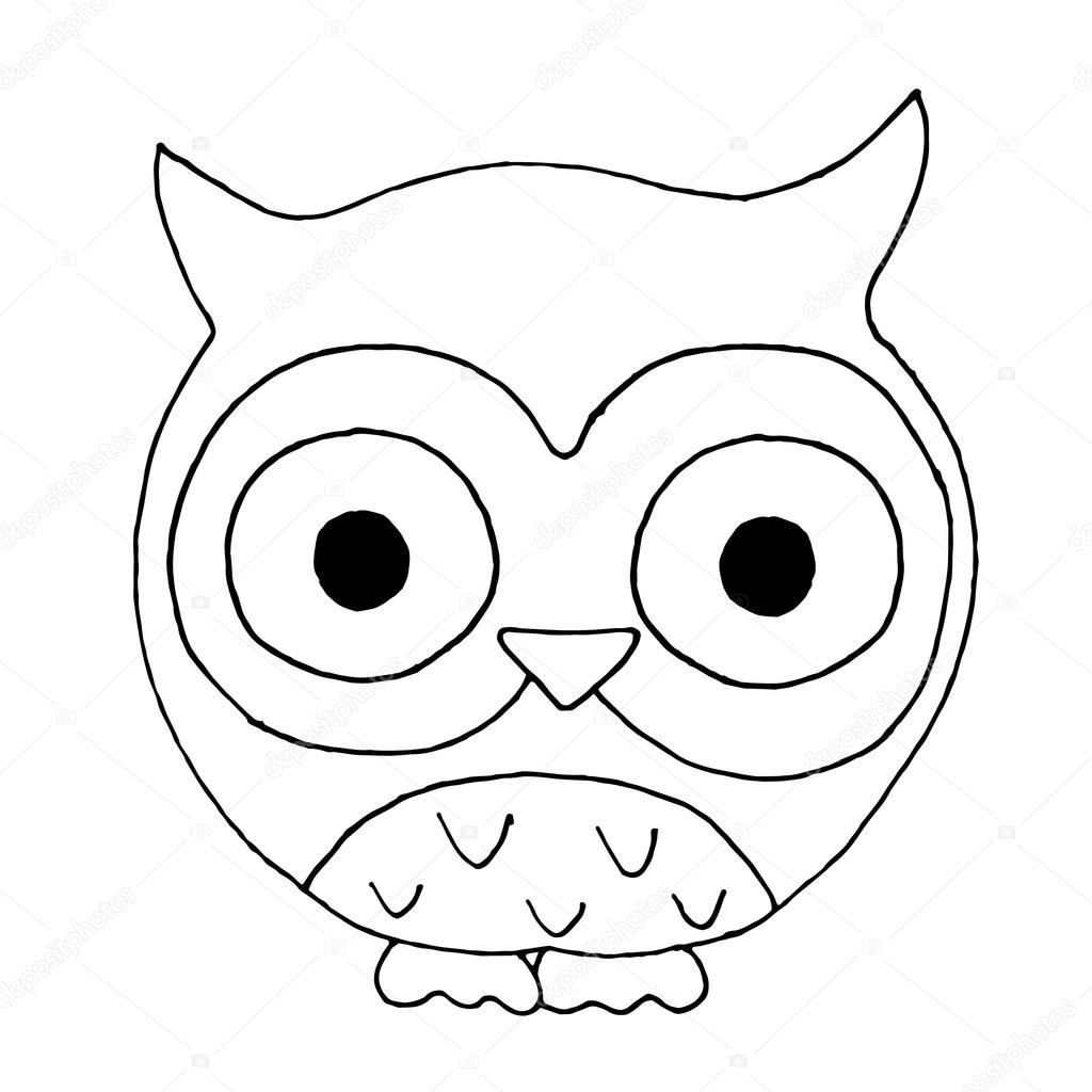 1024x1024 Owls On A White Background. Owls On A White Background. Owl Vector