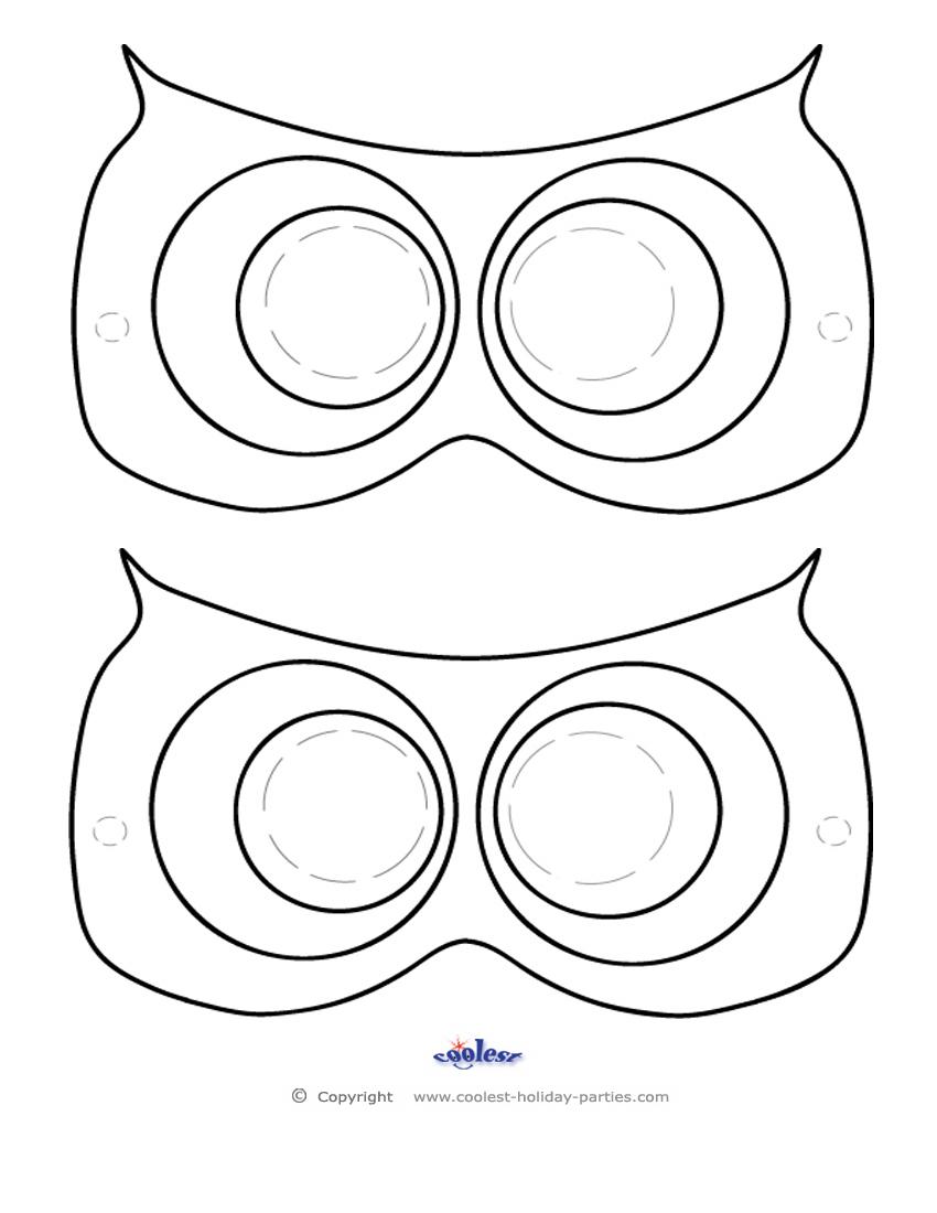 850x1100 Printable Owl Mask