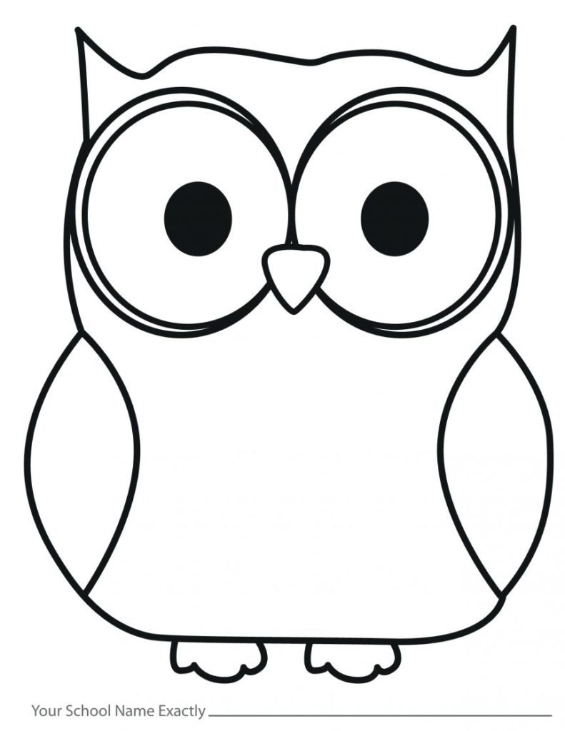 Owl Face Drawing at GetDrawings | Free download