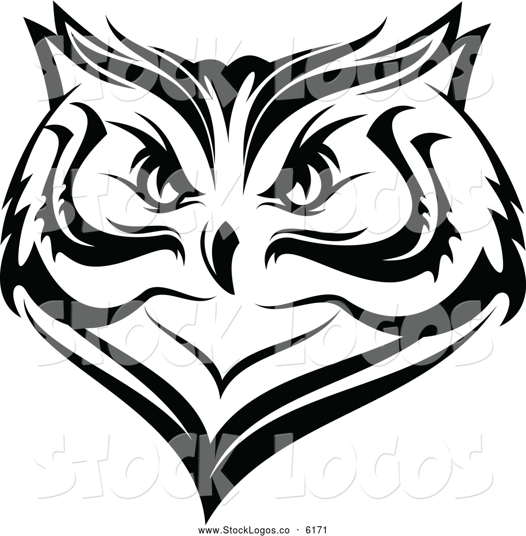 1024x1044 Vector Logo Of A Black And White Owl Face Logo By Vector Tradition