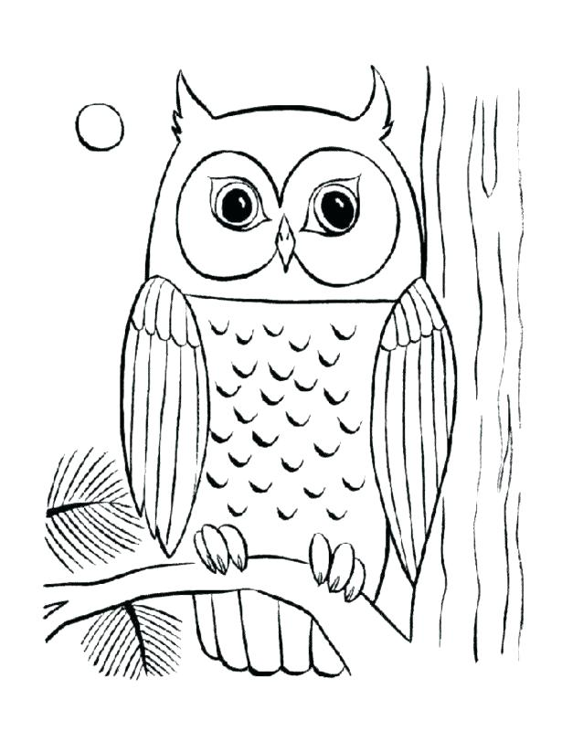 615x824 Free Owl Coloring Pages Coloring Page Of Owl Medium Size Of Pages