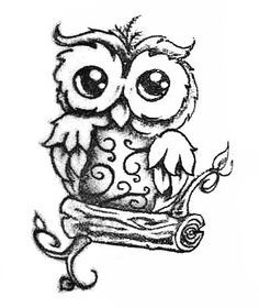 236x280 Cute Owl Drawings Black And White