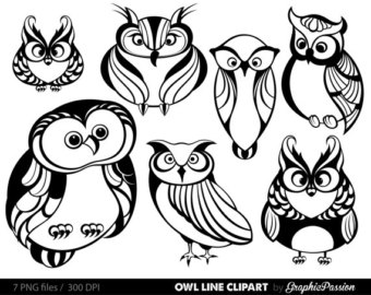 340x270 Doodle Hipster Owl Clip Art, Hand Drawn Owl Clipart, Cute Hipster