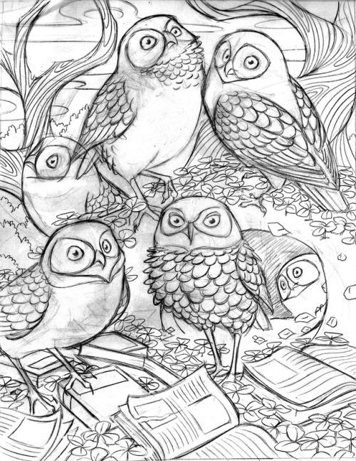 500x647 Owl Sketchbook Tumblr