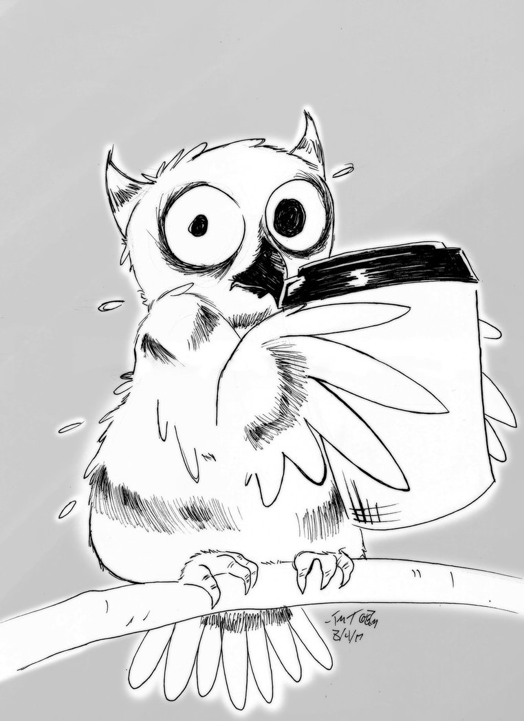762x1048 Coffee Owl By Siamese712