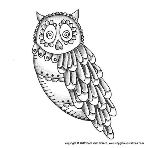 Owl Skull Drawing