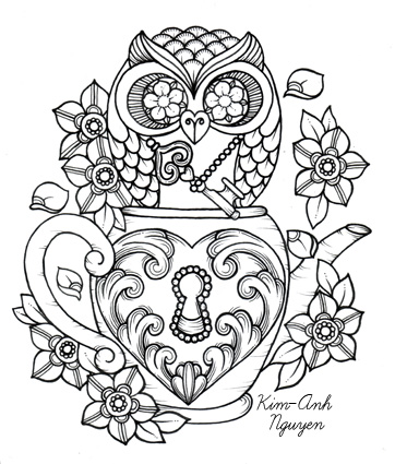 Owl Skull Drawing At Getdrawingscom Free For Personal Use Owl - Free-owl-coloring-pages-for-adults