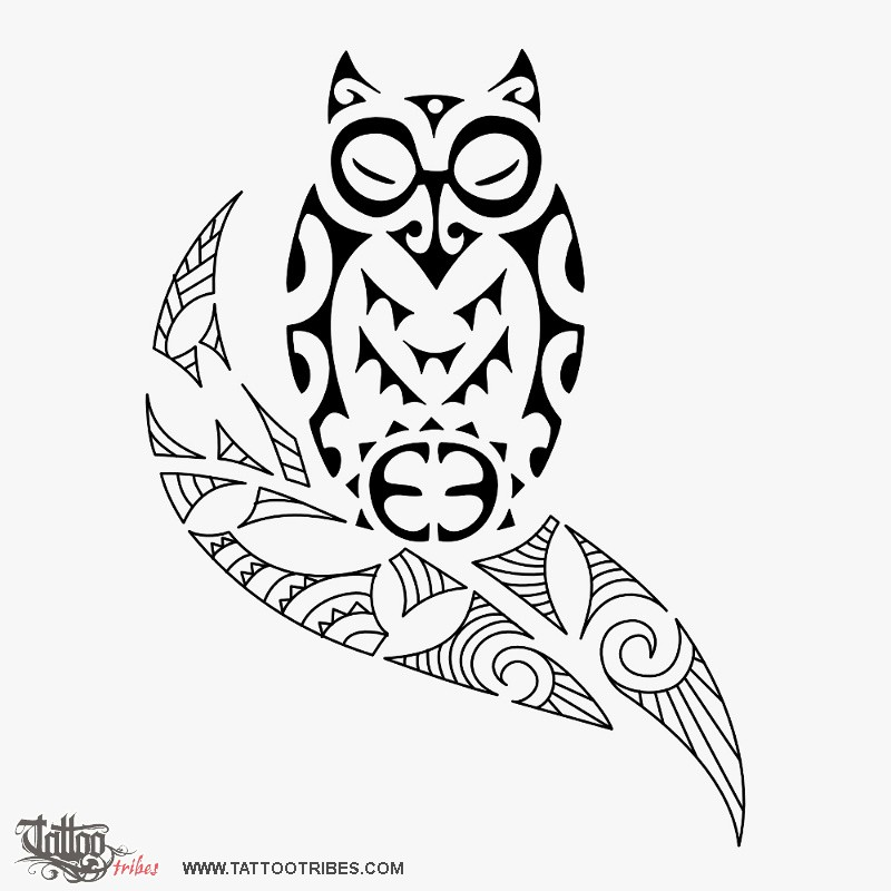 800x800 Tattoo Of Tiki Owl, Protection, Victory Tattoo