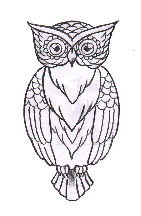 570x872 Custom Owl Temporary Tattoo Somaarttattoo Temporary Tattoo