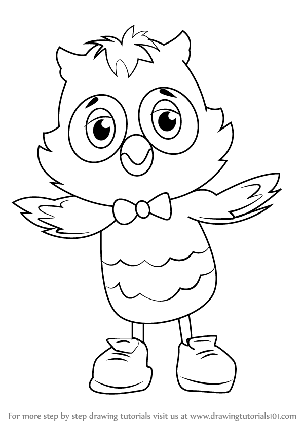 598x844 Learn How To Draw X The Owl From Daniel Tiger's Neighborhood