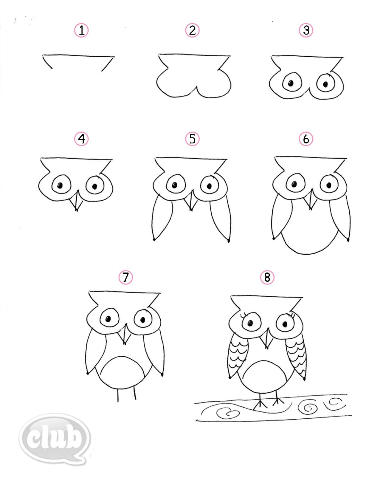 1275x1650 Owl Obsession Series How To Doodle An Owl Tween Crafts