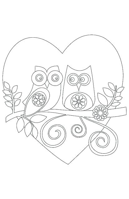414x640 Owl To Color Hard Owl Color Pages Owl Mandala Coloring Sheets