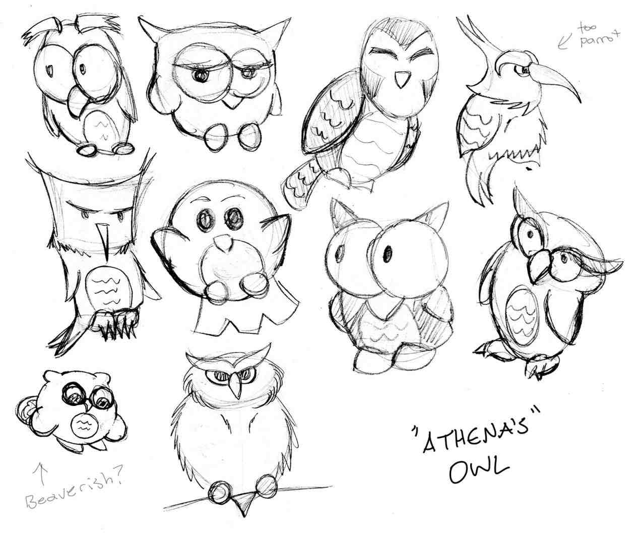 1264x1057 How To Draw A Cute Baby Owl Step By Step