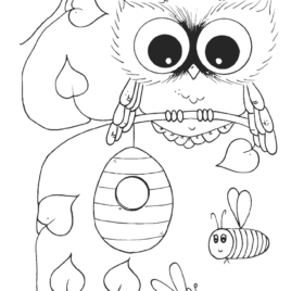 268x268 Coloring Pages Owls Free Kids Drawing And Coloring Pages