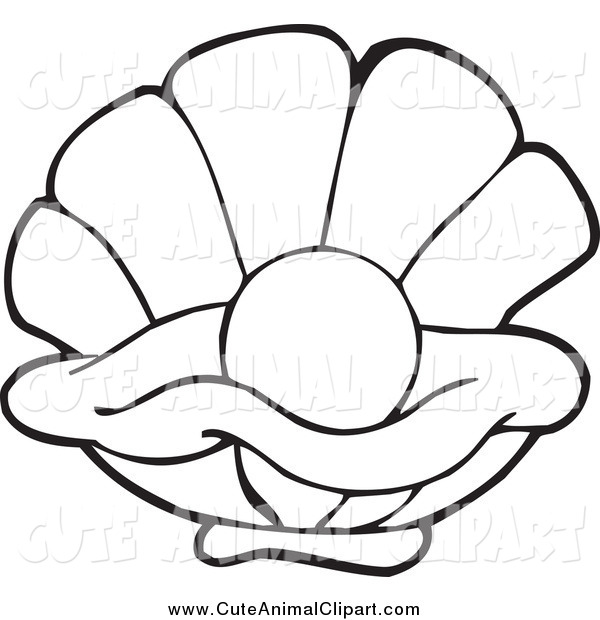 600x620 Oyster Clipart Black And White