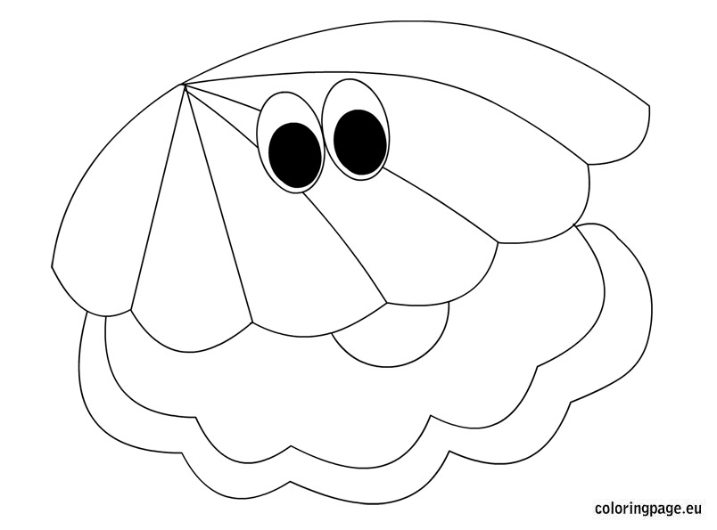 804x595 Oyster Shell Coloring Page