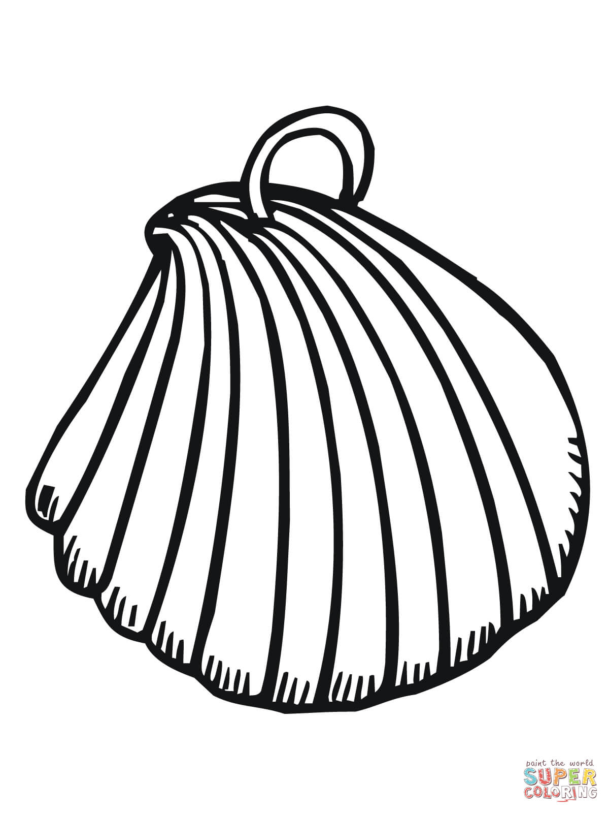 1200x1600 Clam Shell Earring Coloring Page Free Printable Coloring Pages