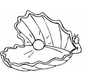 290x284 Jewelry Pearl Oysters Coloring Page, Pearl Necklace Coloring