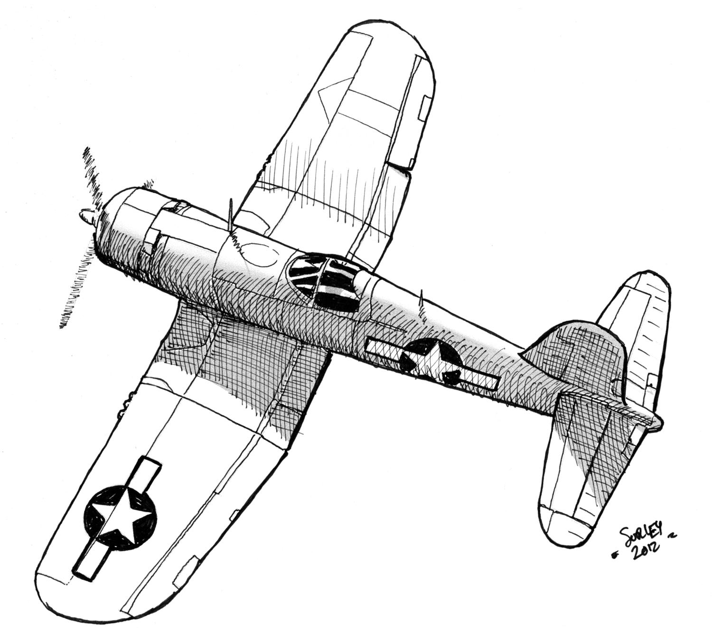 P 51 Mustang Drawing at GetDrawings | Free download