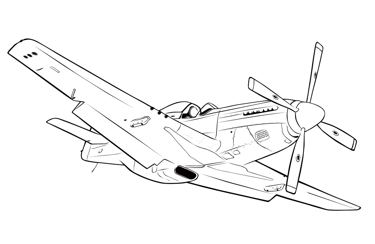 1200x780 Aircraft North American P 51 Mustang Coloring Pages For Kids