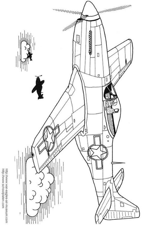 P 51 Mustang Drawing at GetDrawings.com | Free for personal use P 51 ...