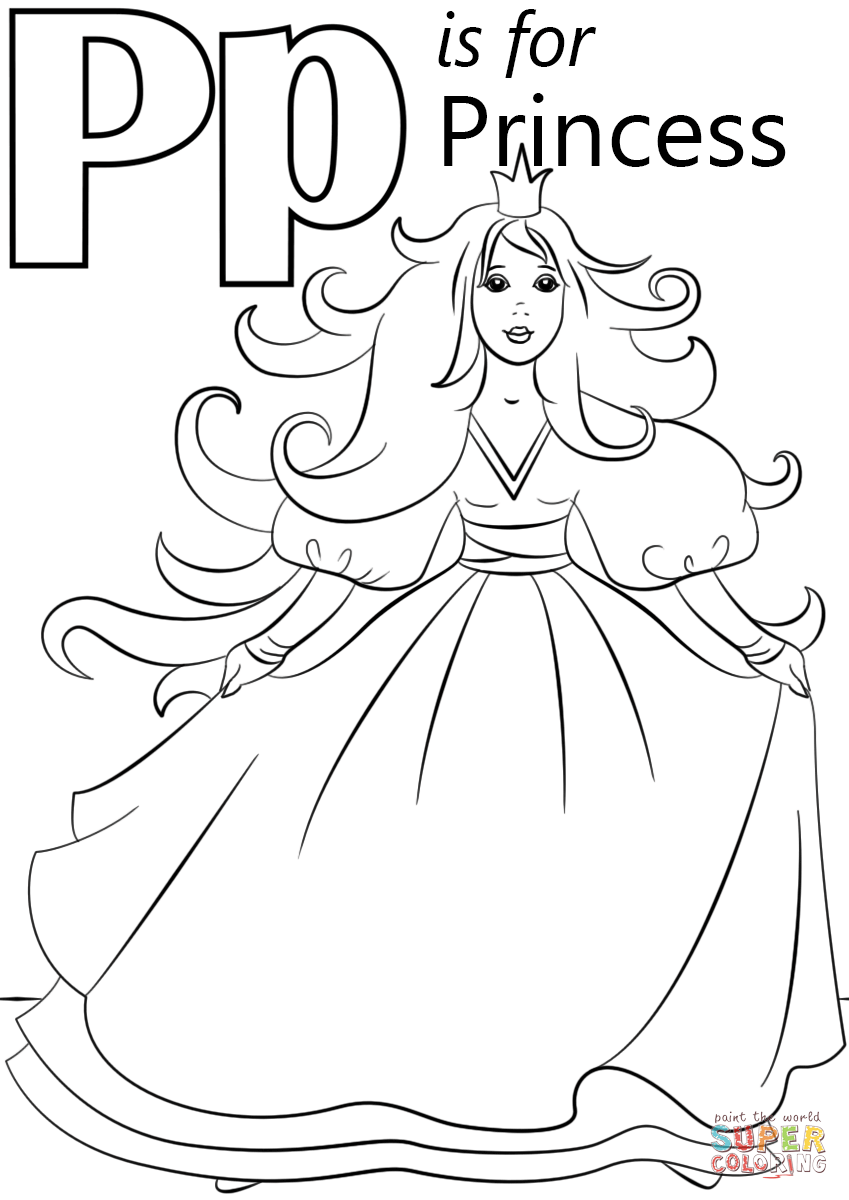849x1200 Letter P Is For Princess Coloring Page Free Printable Pages