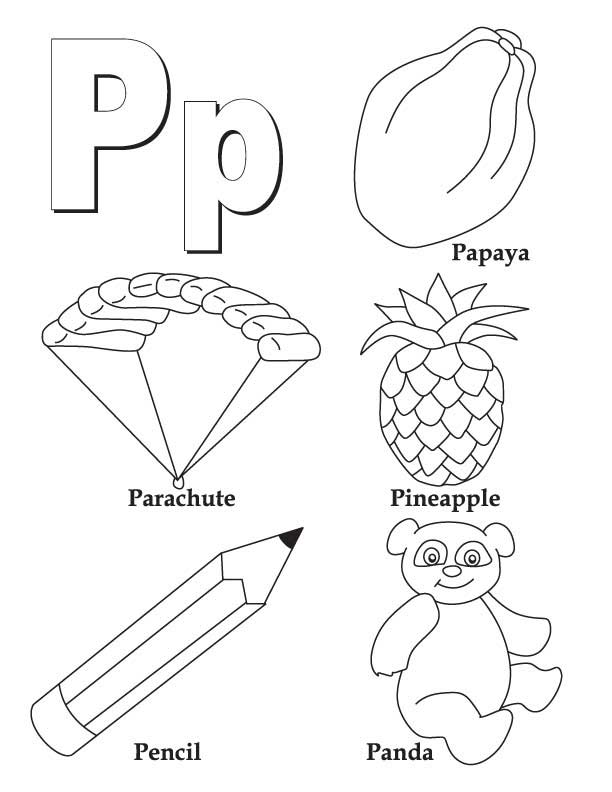 612x792 A And P Coloring Book My To Z Letter