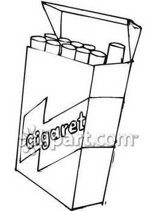 225x300 Pack Of Cigarettes With The Lid Open Royalty Free Clipart Picture
